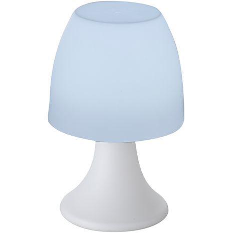 Table lamp on batteries. Powerful LED lighting.