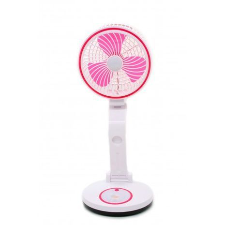 Powerful large folding fan with integrated lamp CH-588