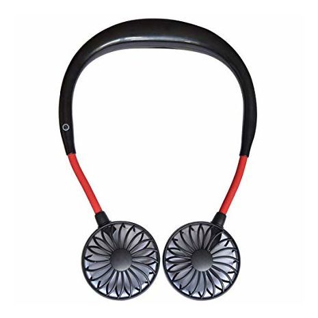 Powerful dual mini-fan with neck brace for walking and sports
