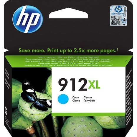 HP 912 C XL Genuine Cyan Inkjet Cartridge 3YL81AE BGX
