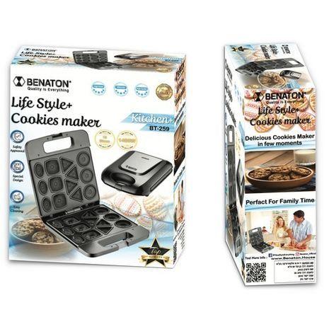 טוסטר עוגיות להכנת 13 עוגיות ב4 צורות  BENATON BT-259