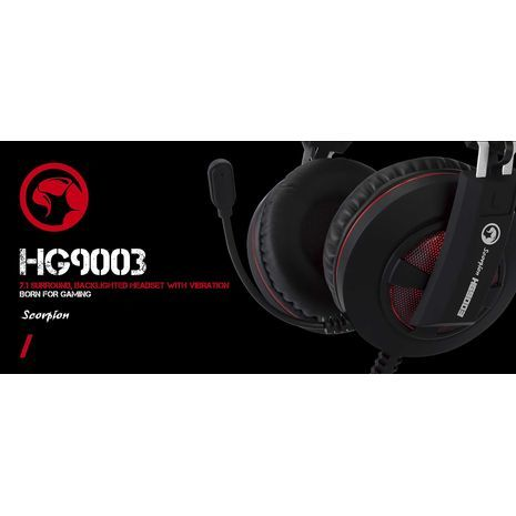 Stereo Heandphone for Computer , 7.1 SURROUND GAMING HEADSET MARVO MA-HG9003 -  Scorpion Vibrant