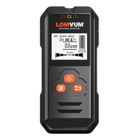 Illuminated metal detector and wall-mounted scanner LCD, LOMVUM LW10