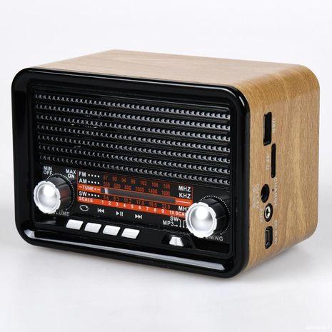 טרנזיסטור רדיו ענק ביצוב רטרו עם כניסת USB,  חריץ לכרטיס זכרון,MP3 , וסוללה נטענת פנימית Bluetooth  NNC NC-1537BT