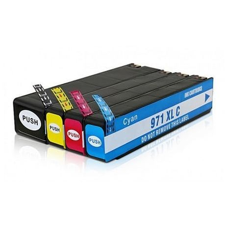 HP 971 / 970  XL Set Compatible  Inkjet Cartridges C/M/Y/K