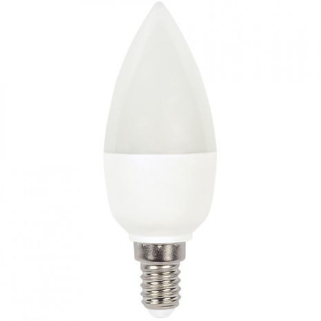 Led A60 bulb Led E-14 5W = 40W A60  .Warm Light . In the shape of a candle .