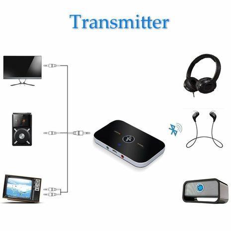 Портативный Hi-Fi 2-в-1 bluetooth аудио передатчик и приемник. B6