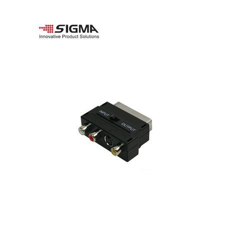Adapter Skart - S-VHS+3RCA (S-Video -RCA)  SIGMA