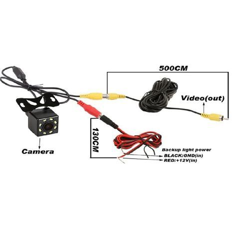 Rear view camera with 8 LED night vision. Universal Backup Parking Camera Waterproof, Shockproof, Wide Angle, HD Color Image