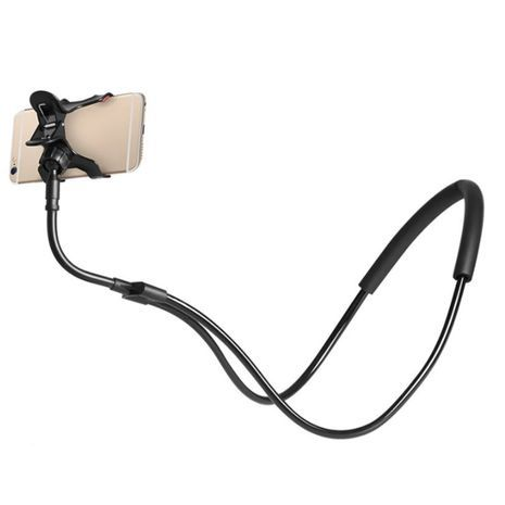 Smartphone holder. On the neck, on the table, On the bed, on a car chair, etc.