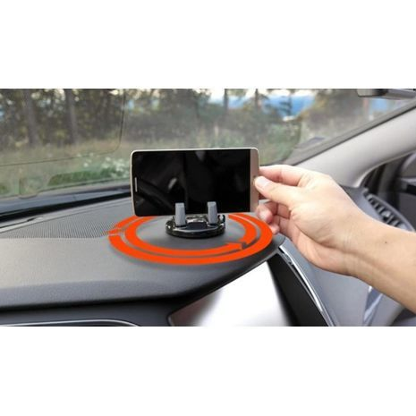 Car holder for the phone to the dashboard. Car phone holder, stand with 360 degree rotation, non-slip.