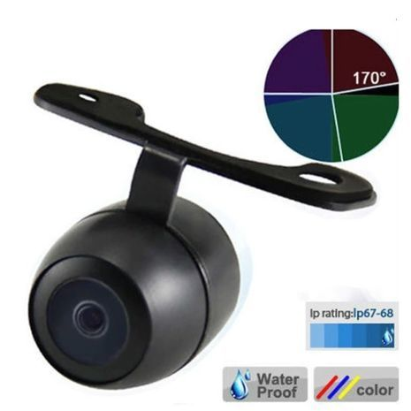 Universal car rear view camera for parking. Parktronic. Quality Hd. Colored. Night visibility. Reversible Drive. Wide angle. Waterproof.