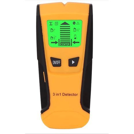 Illuminated metal detector and wall-mounted scanner